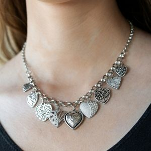 Mix and Match Jewelry Solver Tone Heart Necklace